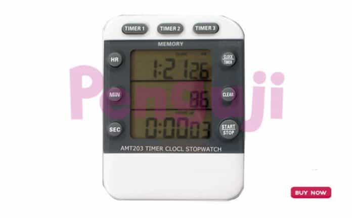 Digital 3 Channel Timer Clock and Stopwatch AMT203