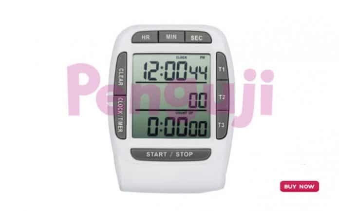 Digital 3 Channel Timer Clock and Stopwatch AMT204